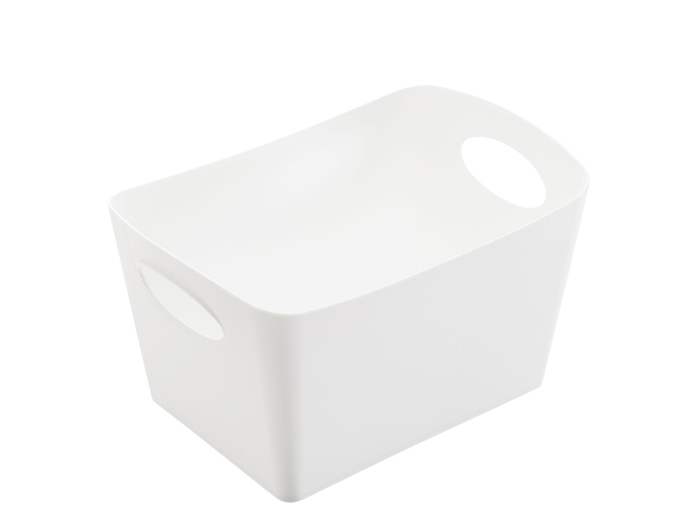 Déco - Paniers et petits rangements - Panier Boxxxx S / 1 L - Koziol - Blanc opaque - Matière plastique
