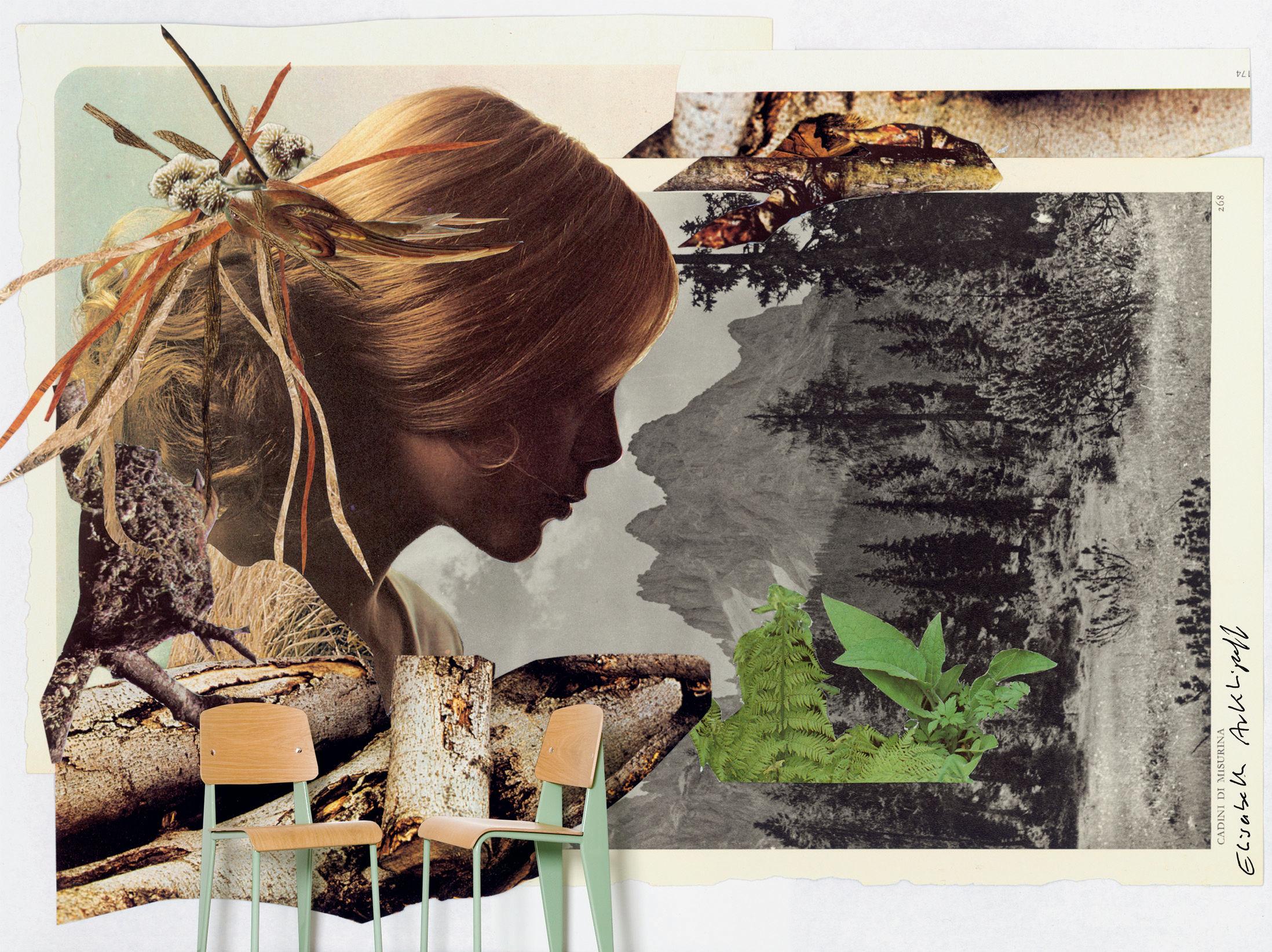 Déco - Stickers, papiers peints & posters - Papier peint panoramique Arkhipoff Landscape / 8 lés - L 372 x H 300 cm - Domestic - Arkhipoff Landscape / Multicolore - Papier intissé