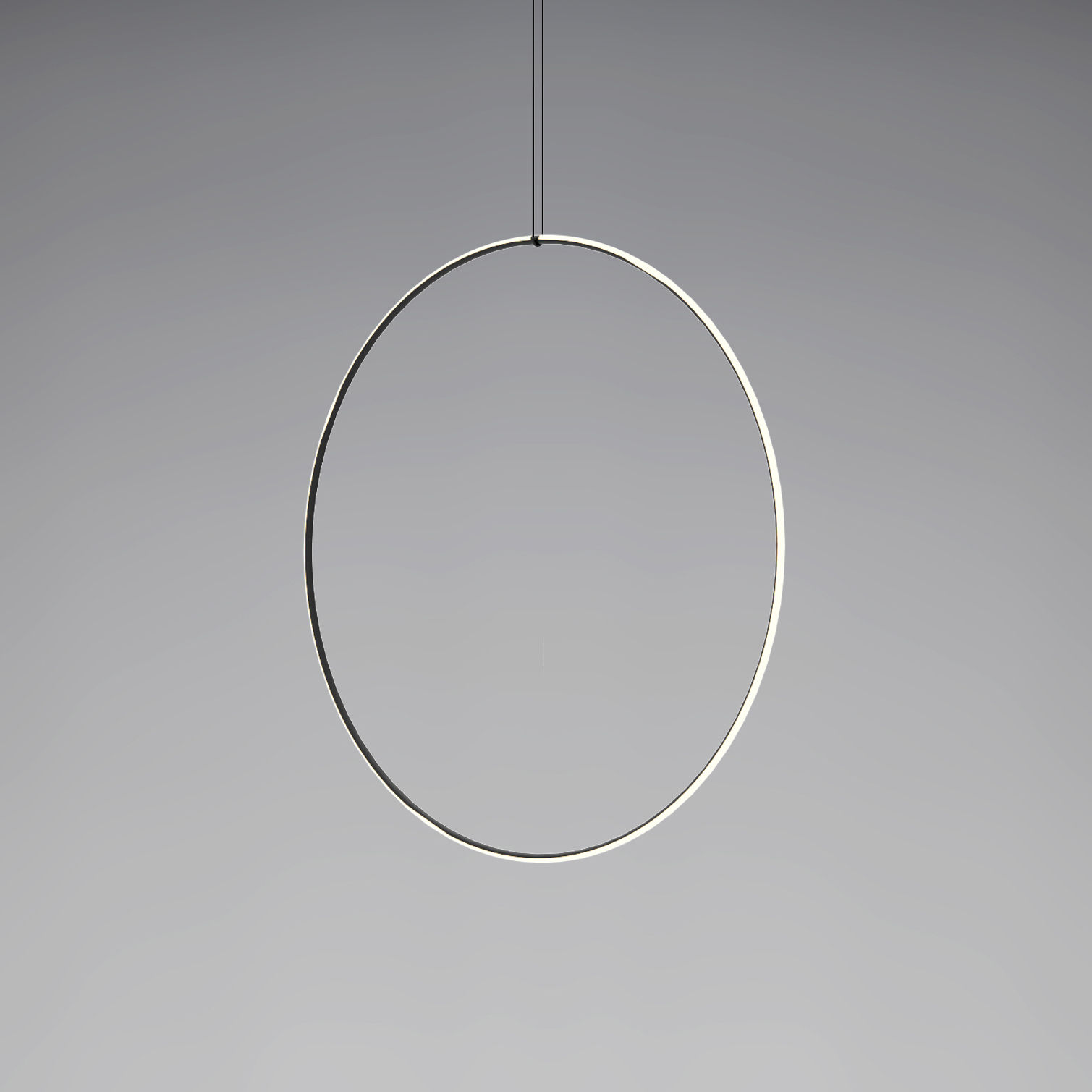 Lighting - Pendant Lighting - Arrangements 5 LED Pendant - / Ø 100 cm by Flos - Black & White - Painted aluminium, Polycarbonate