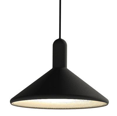 Lighting - Pendant Lighting - Torch Light Cône Pendant - Cone - Large Ø 30 cm by Established & Sons - Black - Black cable - PVC