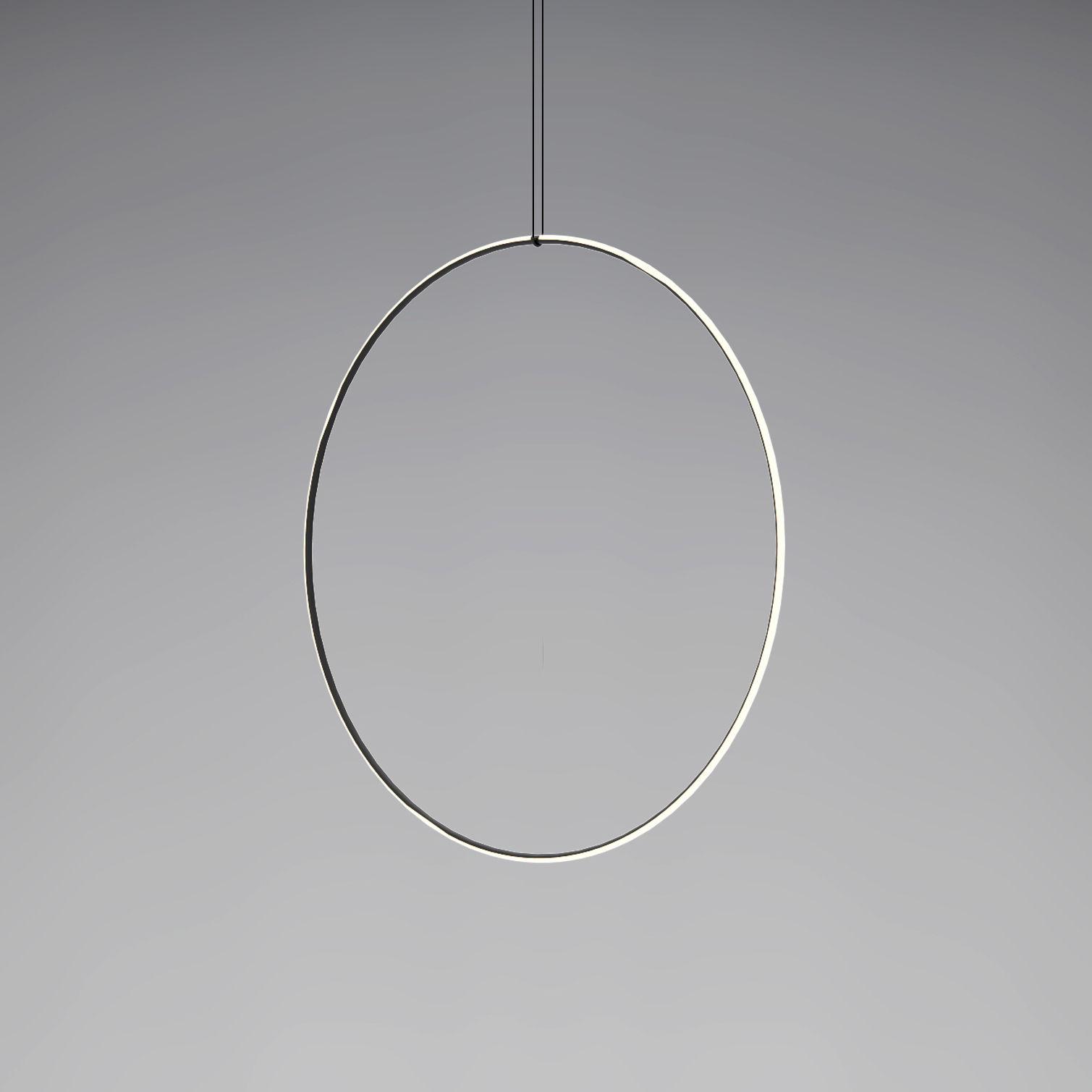 Leuchten - Pendelleuchten - Arrangements 5 LED Pendelleuchte / Ø 100 cm - Flos - Schwarz & weiß - bemaltes Aluminium, Polykarbonat