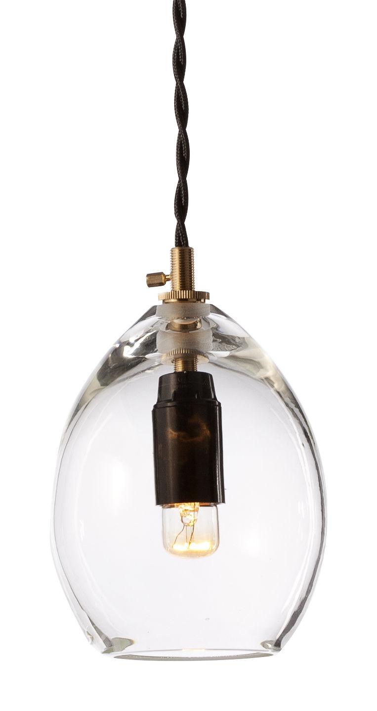 Leuchten - Pendelleuchten - Unika Pendelleuchte Groß - H 20 cm - Northern  - Groß / H 20 cm - transparent - mundgeblasenes Glas