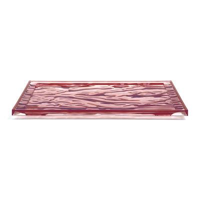Plateau Dune Large / 55 x 38 cm - PMMA - Kartell rose pâle en matière plastique