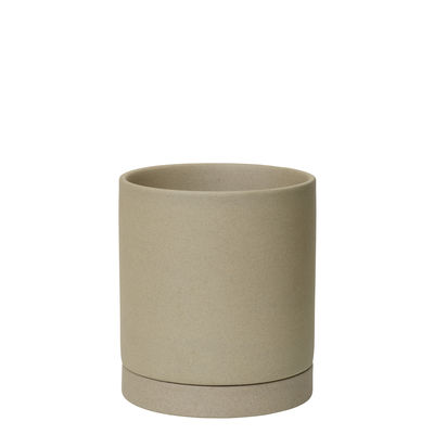 Jardin - Pots et plantes - Pot de fleurs Sekki Medium / Ø 13,5 x H 15,7 cm - Grès - Ferm Living - Sable - Grès