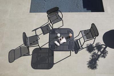 Week-end quadratischer Tisch / 85 x 85 cm - Aluminium - Petite Friture