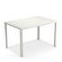 Nova Rectangular table - / Metal - 120 x 80 cm by Emu