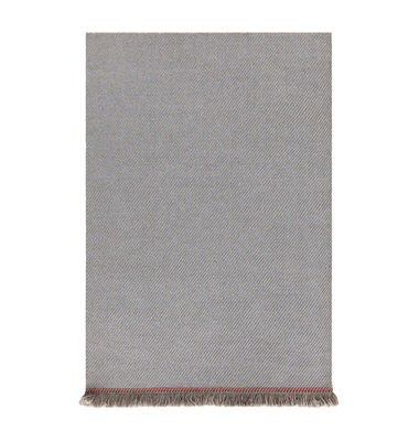 Decoration - Rugs - Garden Layers Rug - / 90 x 200 cm - Handwoven by Gan - Diagonals / Blue & almond - Polypropylene