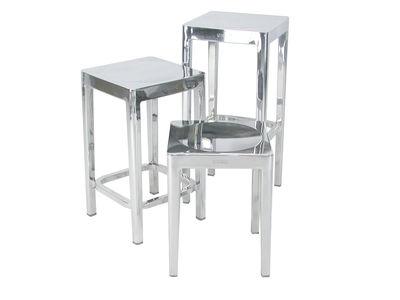 Scopri sgabello alto h cm alluminio lucido di emeco made in