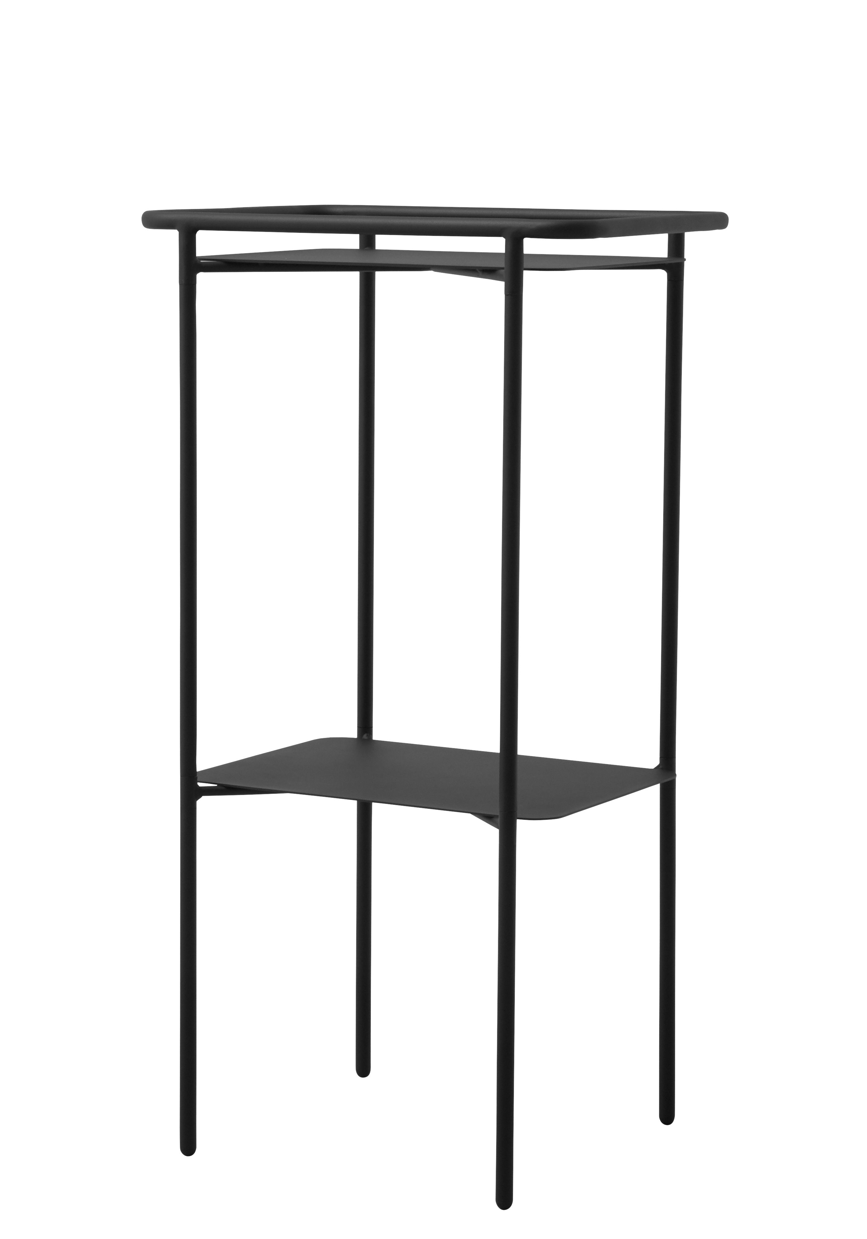 Furniture - Coffee Tables - Copenhagen Tray Small table - Metal / H 89 cm by Menu - Black - Painted steel