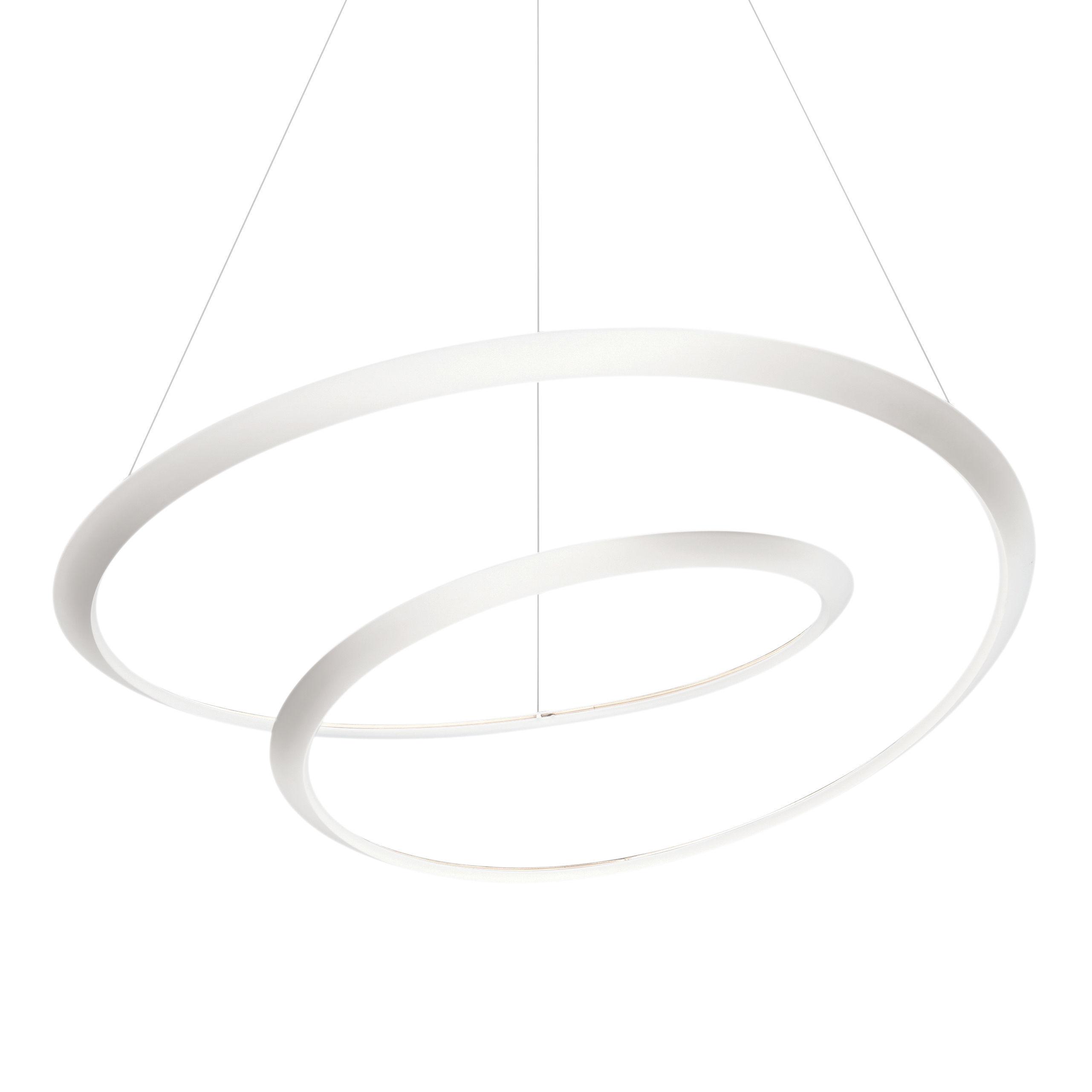 Illuminazione - Lampadari - Sospensione Kepler Uplight LED - / Ø 110 cm di Nemo - Bianco - alluminio estruso