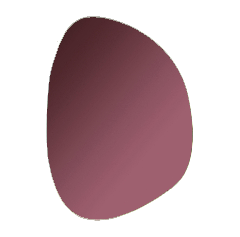 Interni - Specchi - Specchio murale Pebble - / 37 x 26,5cm di & klevering - Violet - Verre coloré