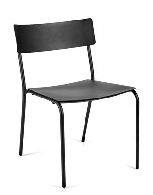 Furniture - Chairs - August Stacking chair - / Aluminium by Serax - Black - Thermolacquered aluminium
