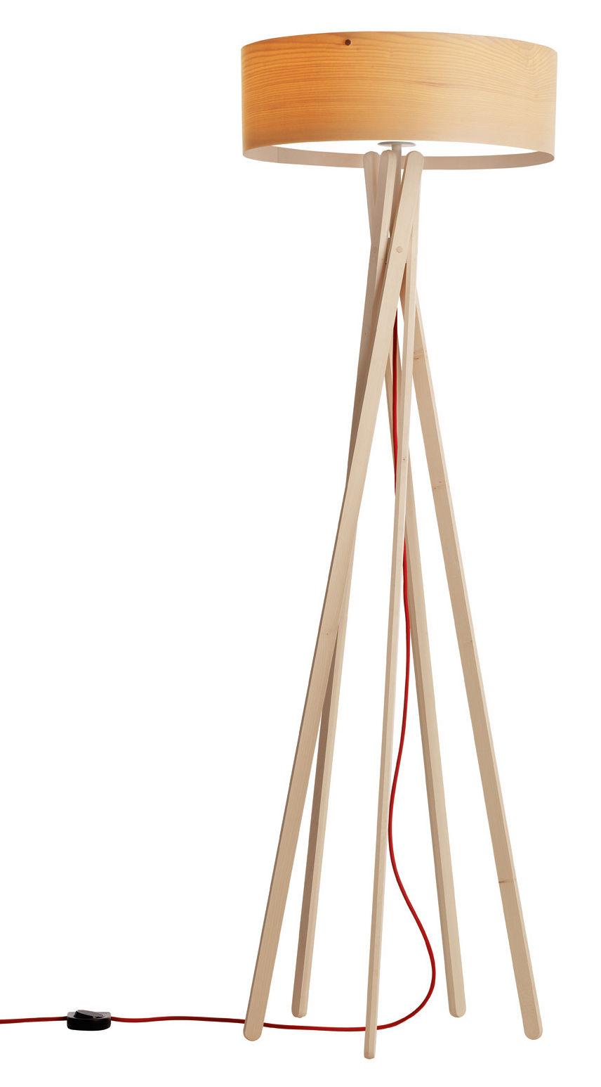 Leuchten - Stehleuchten - Arba Stehleuchte mit Schalter - Belux - Holz - mit Schalter - geölter Ahorn