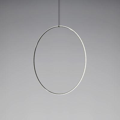 Luminaire - Suspensions - Suspension Arrangements 5 LED / Ø 100 cm - Flos - Noir & Blanc - Aluminium peint, Polycarbonate