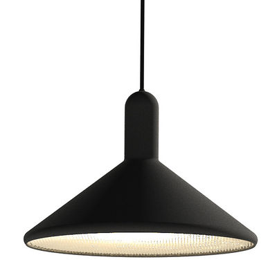 Luminaire - Suspensions - Suspension Torch Light Cône / Large - Ø 30 cm - Established & Sons - Noir / Câble noir - PVC