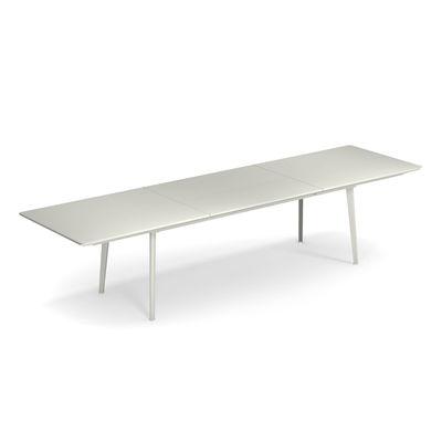 Table à rallonge Plus4 / Acier - 220 à 330 cm - Emu blanc mat en métal