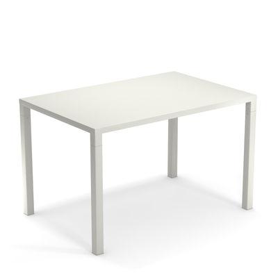 Jardin - Tables de jardin - Table rectangulaire Nova / Métal - 120 x 80 cm - Emu - Blanc - Acier verni