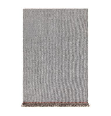 Image of Tappeto Garden Layers - / 90 x 200 cm - Tessuto a mano di Gan - Blu/Beige - Tessuto