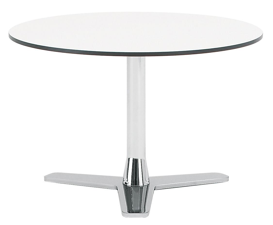 Arredamento - Tavolini  - Tavolino Propeller di Offecct - Bianco / Piede cromato - Acciaio cromato, Stratificato compatto