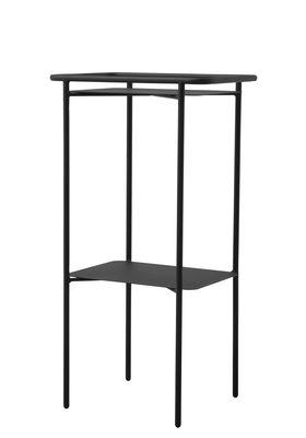 Arredamento - Tavolini  - Tavolino con piede centrale Copenhagen Tray / Acciaio - H 89 cm - Menu - Nero - Acciaio verniciato