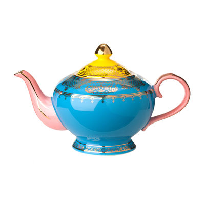Tableware - Tea & Coffee Accessories - Grandpa Teapot - / Porcelain - 700 ml by Pols Potten - Multicoloured - Enamelled china