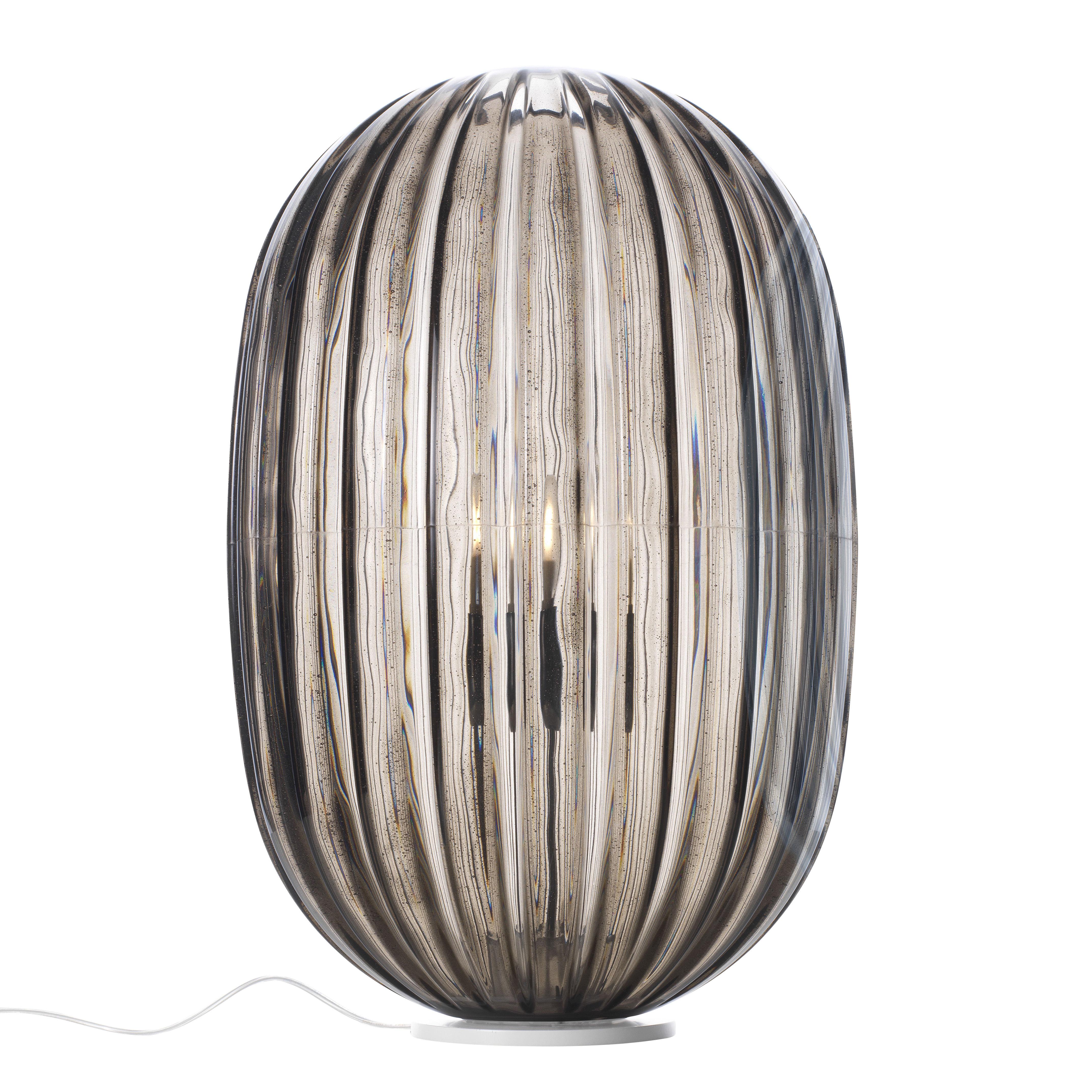 Leuchten - Tischleuchten - Plass Tischleuchte / Ø 34 cm x H 51 cm - Foscarini - Grau - Polykarbonat, Stahl