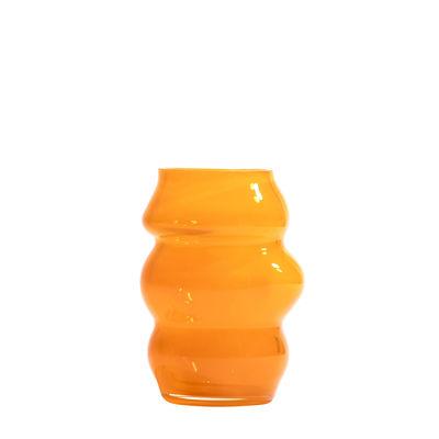 Decoration - Vases - Muse Small Vase - / Bohemia crystal - Ø 8 x H 13 cm by Fundamental Berlin - Saffron - Bohemia crystal
