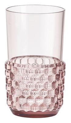 Verre Jellies Family / Large - H 15 cm - Kartell rose en matière plastique