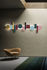 Totem LED Wall light - / L 200 cm - 13 magnetised shapes by Pallucco