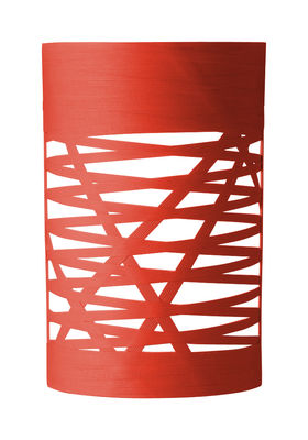 Luminaire - Appliques - Applique Tress Mini / H 40 cm - Foscarini - Rouge - Fibre de verre, Matériau composite