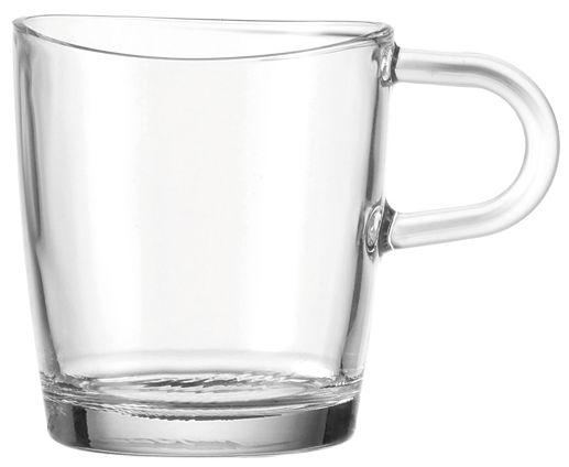 Tischkultur - Tassen und Becher - Loop Becher mit Griff - Leonardo - Transparent - Glas
