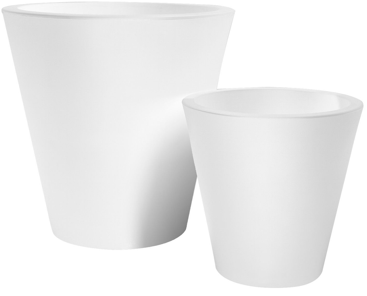Outdoor - Töpfe und Pflanzen - New Pot Blumentopf H 50 cm - Serralunga - Weiß - Polyäthylen