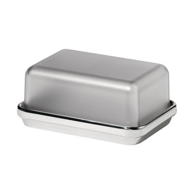 Tableware - Kitchen Accessories - ES03G Butter dish - / Steel & plastic by Alessi - Polished steel / Grey - Plastic material, Polished steel