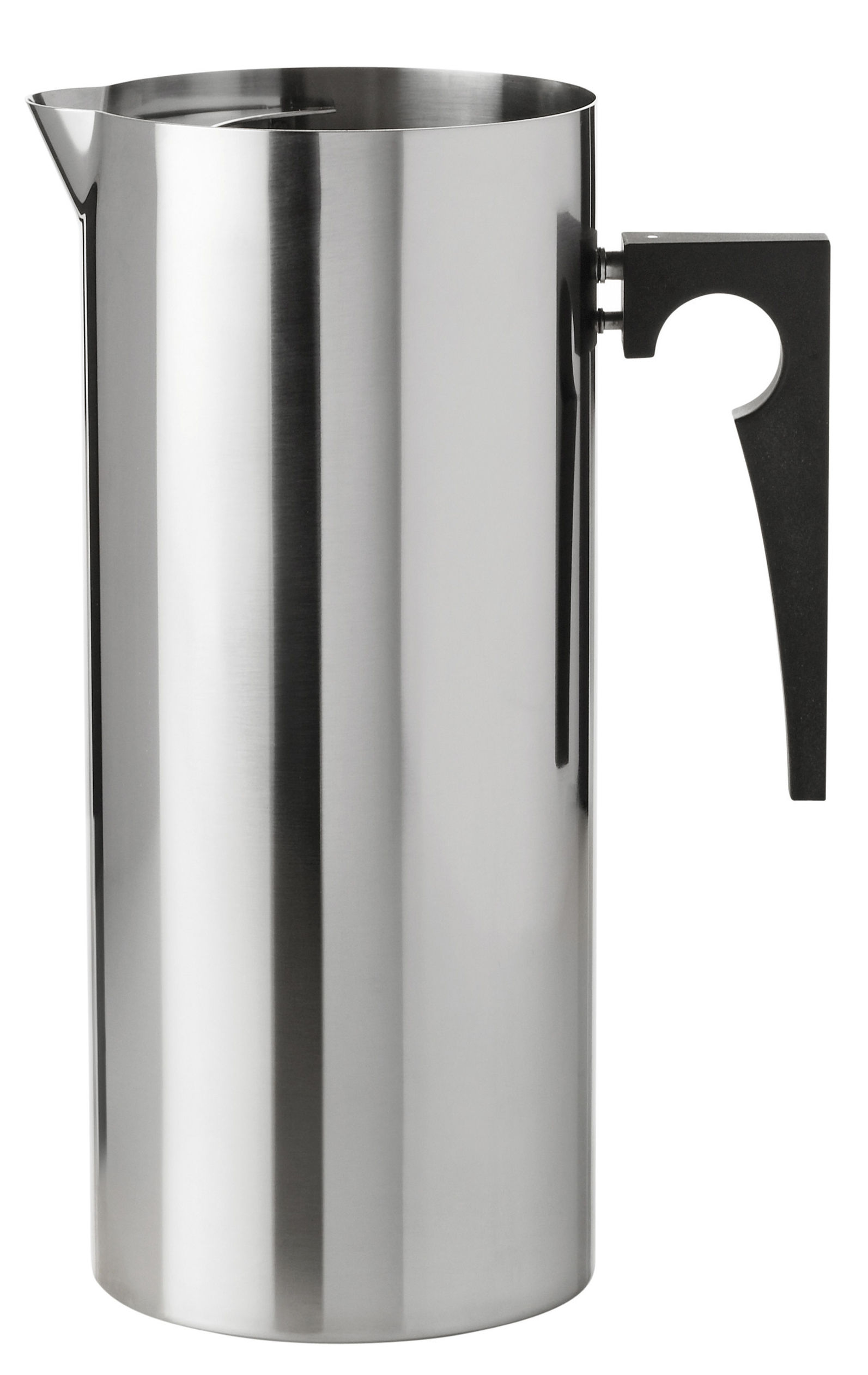 Tableware - Water Carafes & Wine Decanters - Cylinda-Line Carafe - 2 L by Stelton - Steel - Bakelite, Stainless steel