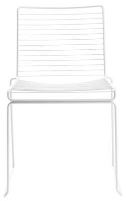 Mobilier - Chaises, fauteuils de salle à manger - Chaise empilable Hee - Hay - Blanc - Acier laqué