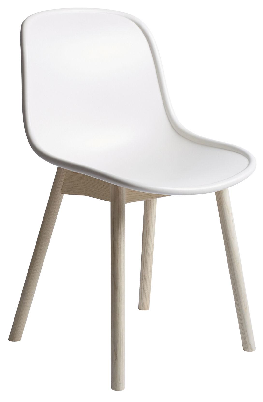 Chaise Neu Plastique Pieds Bois Blanc