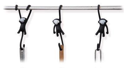 Crochet Just hanging / Lot de 3 - Pa Design noir en matière plastique
