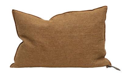 Decoration - Cushions & Poufs - Vice Versa Cushion - 65 x 65 cm - Linen by Maison de Vacances - Havana - Duck down, Duck feathers, Flax