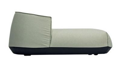 Dormeuse Brioni OUTDOOR / L 107 x P 156 cm - Kristalia vert en tissu