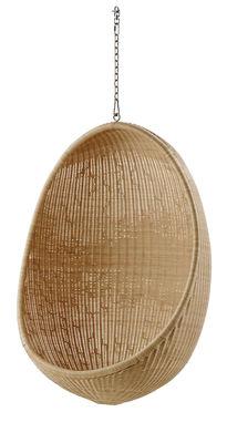 Chaise suspendu Œuf Réédition 1959 Sika Design naturel en fibre végétale