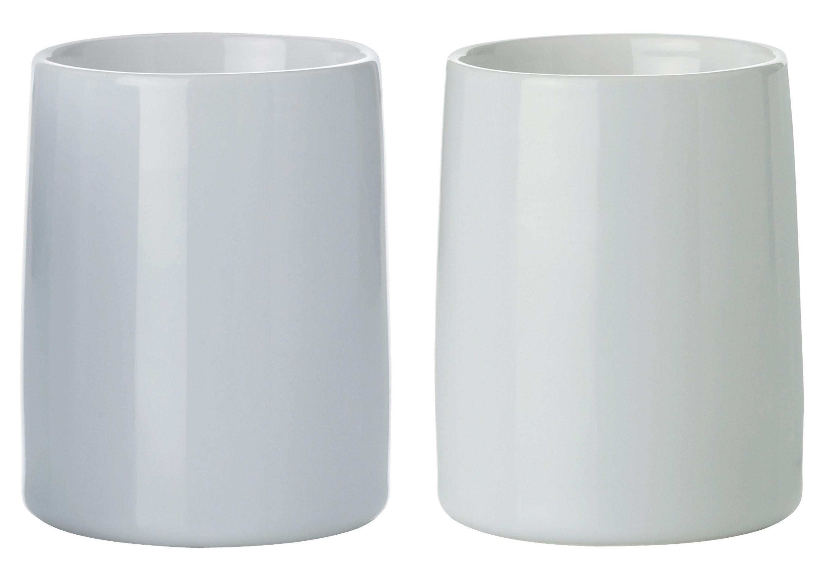 Tischkultur - Tassen und Becher - Emma Iso-Tasse thermoisolierend / 2er-Set - Stelton - Hellgrün / hellblau - Porzellan