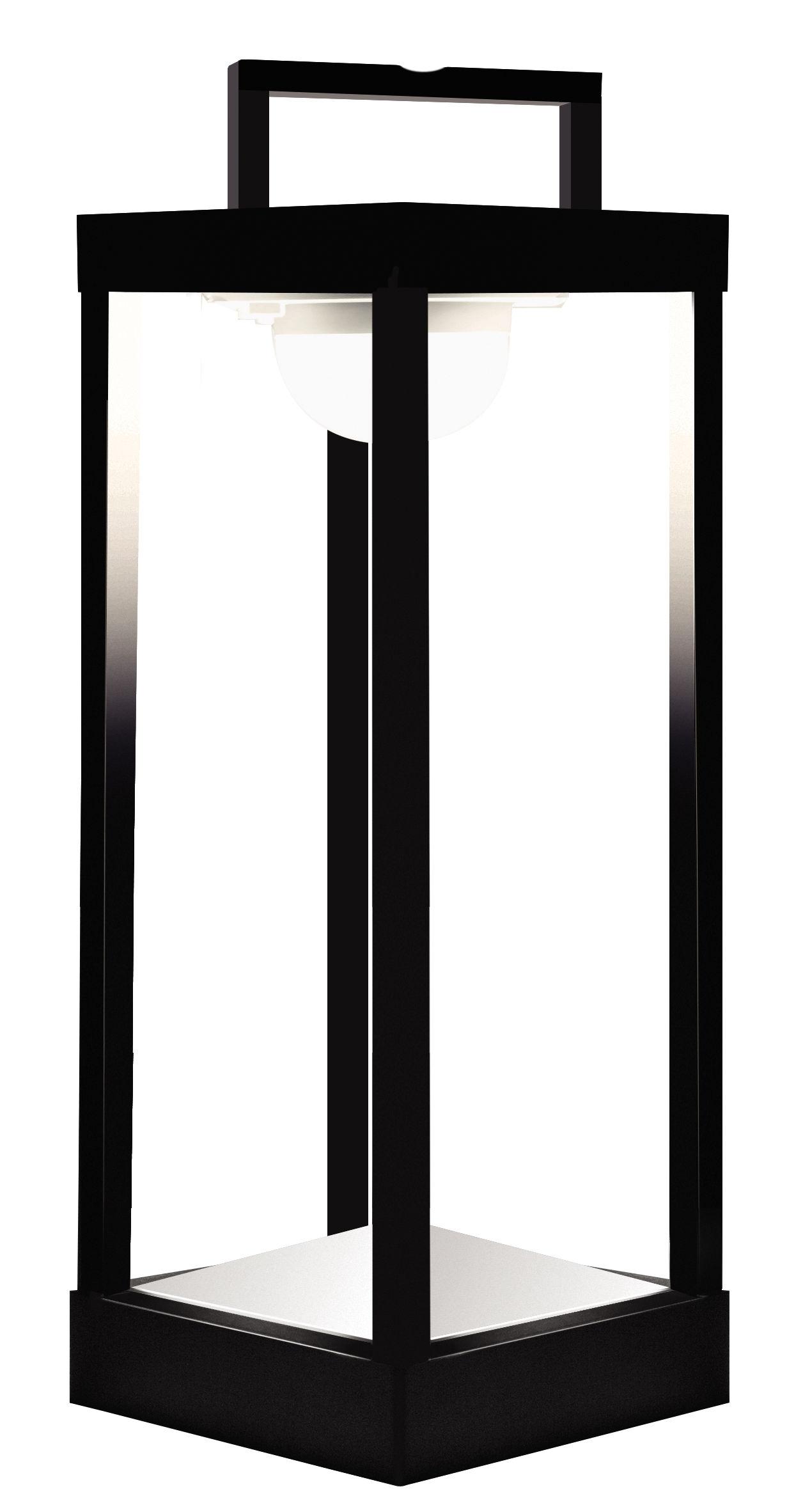 Illuminazione - Lampade da tavolo - Lampada solare La Lampe Parc L LED / Senza fili - H 50 cm - Maiori - Nero - Alluminio, Vetro