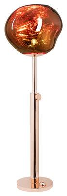 Luminaire - Lampadaires - Lampadaire Melt / H 124 à 160 cm - Tom Dixon - Cuivre - Acier, Polycarbonate