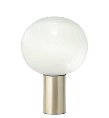 Luminaire - Lampes de table - Lampe de table Laguna / Ø 37 x H 54 cm - Artemide - Laiton - Aluminium, Verre soufflé