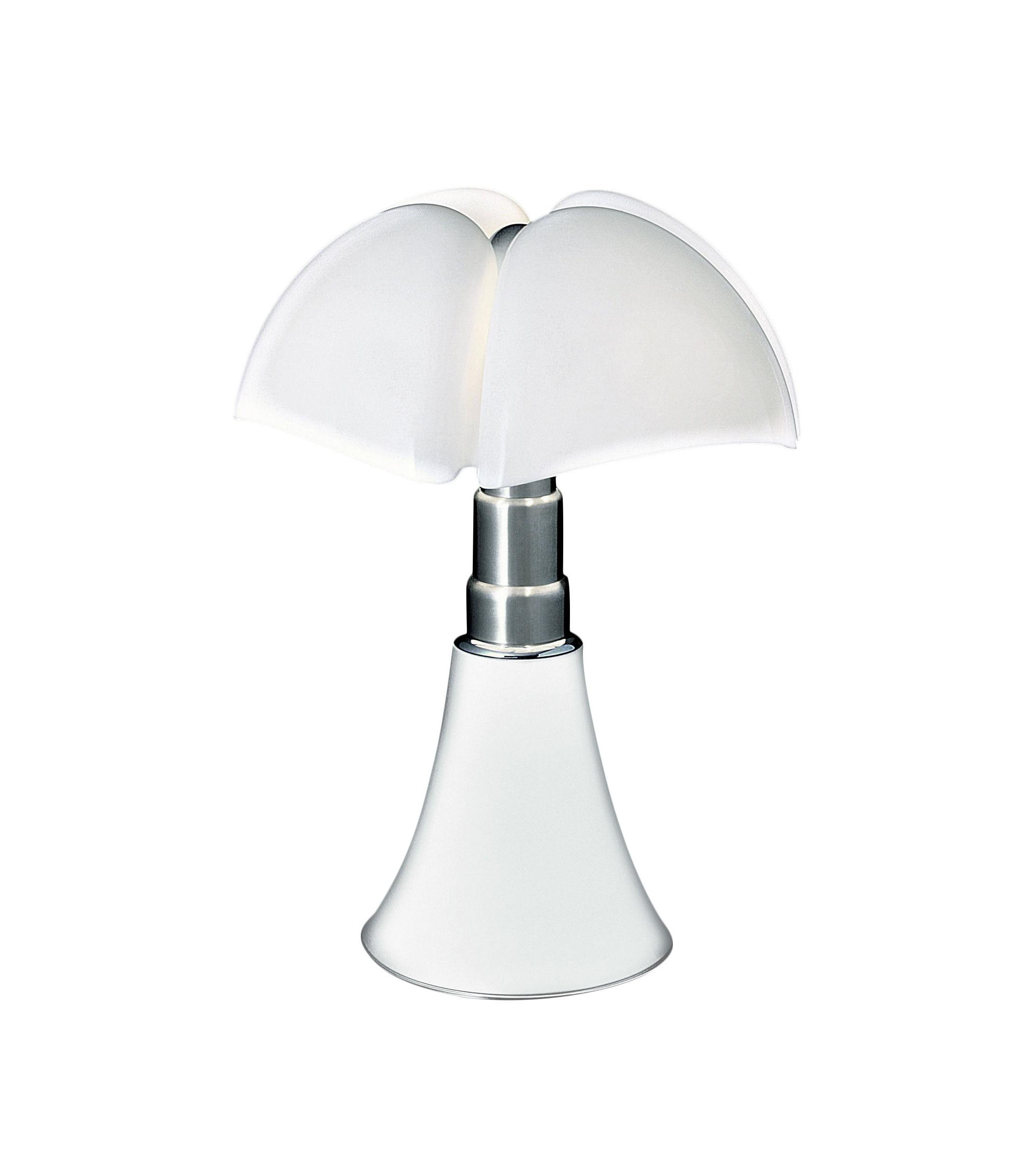 Luminaire - Lampes de table - Lampe de table Minipipistrello LED / H 35 cm - Martinelli Luce - Blanc / Abat-jour blanc - Acier galvanisé, Aluminium laqué, Méthacrylate opalin