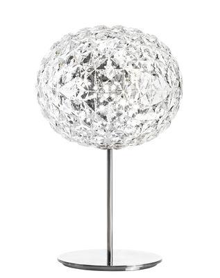 Luminaire - Lampes de table - Lampe de table Planet / LED - Ø 33 x H 53 cm - Kartell - Cristal / Pied argent - Aluminium, Technopolymère thermoplastique