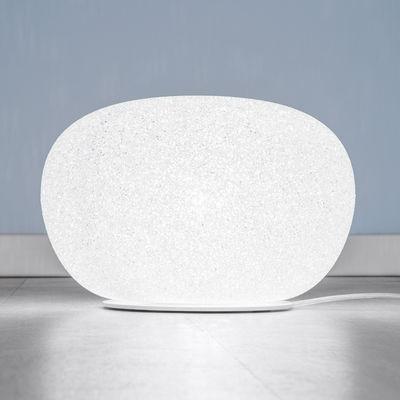 Lampe de table Sumo Small / H 22 x Ø 34 cm - Lumen Center Italia blanc en matière plastique