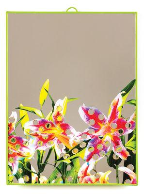 Déco - Miroirs - Miroir Toiletpaper / Fleurs trouées - Large H 40 cm - Seletti - Fleurs trouées / Vert - Matière plastique, Verre sérigraphié