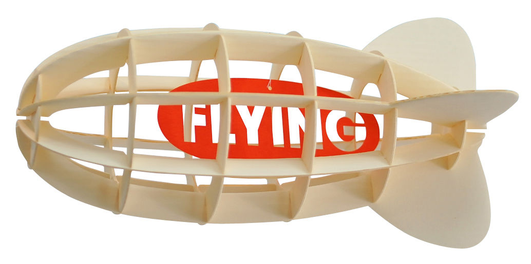 Decoration - Children's Home Accessories - Paper Dirigeable Mobile - Cardboard by Pa Design - Red / Airship - Cardboard
