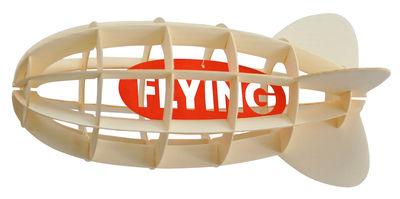Image of Mobile Paper Orientabile / Cartone - Pa Design - Rosso,Legno naturale - Carta